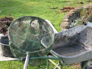 Nettoyage du bassin au jardin au printemps - Bassin de jardin nettoyage ...